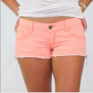 Abercrombie & Fitch neon jean shorts  Size 2